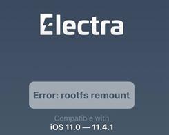 """How to Fix """"error: rootfs remount"""" on Electra Jailbreak?"""