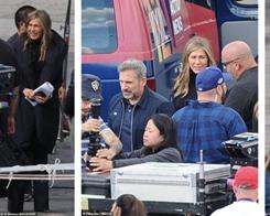Jennifer Aniston and Steve Carell Reunite on Set of Apple TV Series