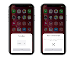Activating the Apple Card is Available in the Latest iOS