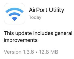 Apple Updates AirPort Utility app with iOS 13 Compatibility