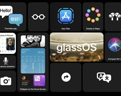 Concept Shows How Apple Could Create a 'GlassOS' Based on the iOS 14 Interface