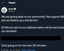 Apple's Twitter account has been hacked, ignore the Bitcoin scammers