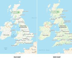 Apple Maps Trials Updated Maps for UK And Ireland