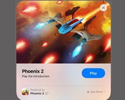 iOS 14: 'Phoenix 2' Space Shooter Delivers Playable Demo via App Clips