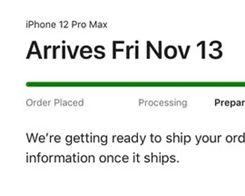 iPhone 12 Mini and iPhone 12 Pro Max Order Statuses Begin Shifting to 'Preparing to Ship'