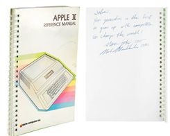 Apple II Manual Signed by Steve Jobs Sells for $787,483